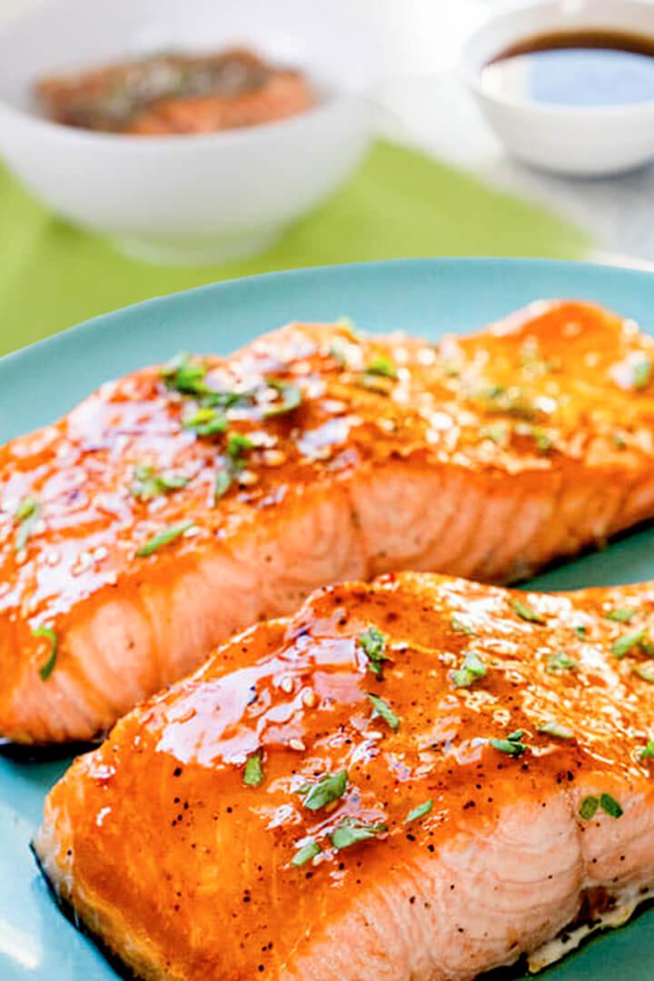 Baked Salmon Belly Teriyaki - Salmon