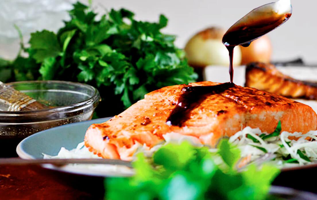 Baked Salmon Belly Teriyaki