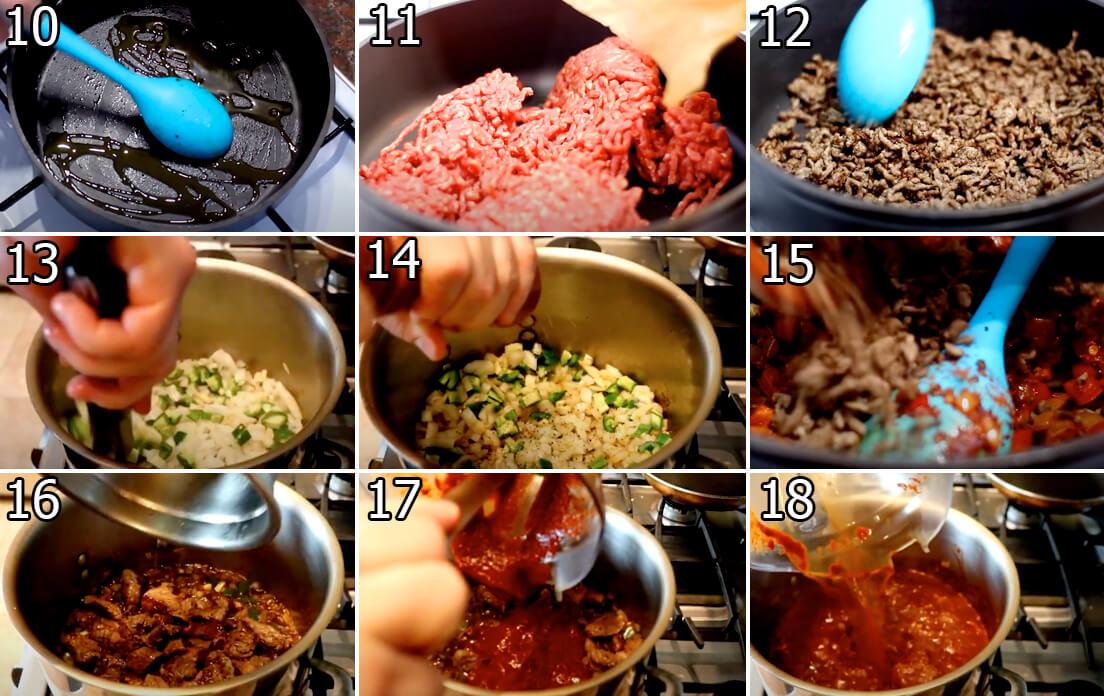 Instruction chili con carne