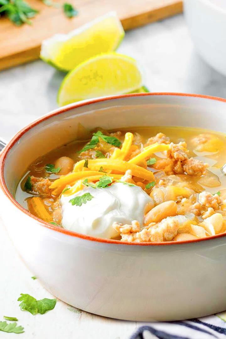 Crock Pot White Chicken Chili Con Carne Recipe