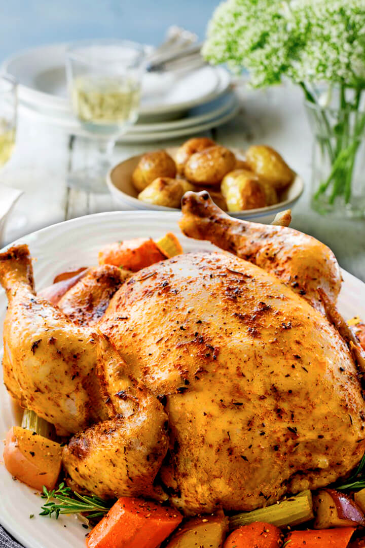 Easy Slow Cooker Roast Chicken Whole Breasts Recipe
