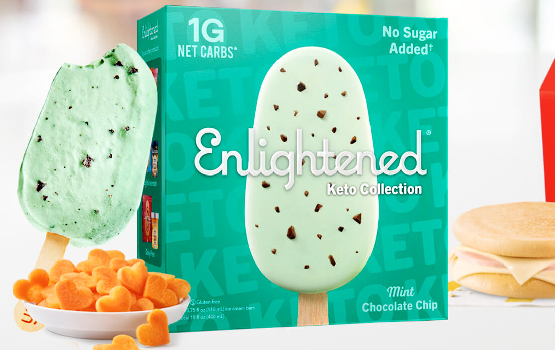 low carb ice cream bars brands