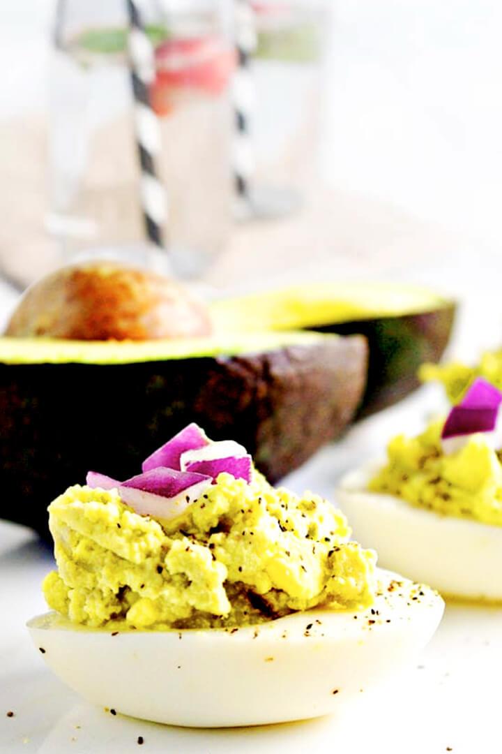 How To Make Easy Classic Avocado Deviled Eggs Recipe