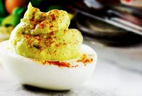Classic Avocado Deviled Eggs