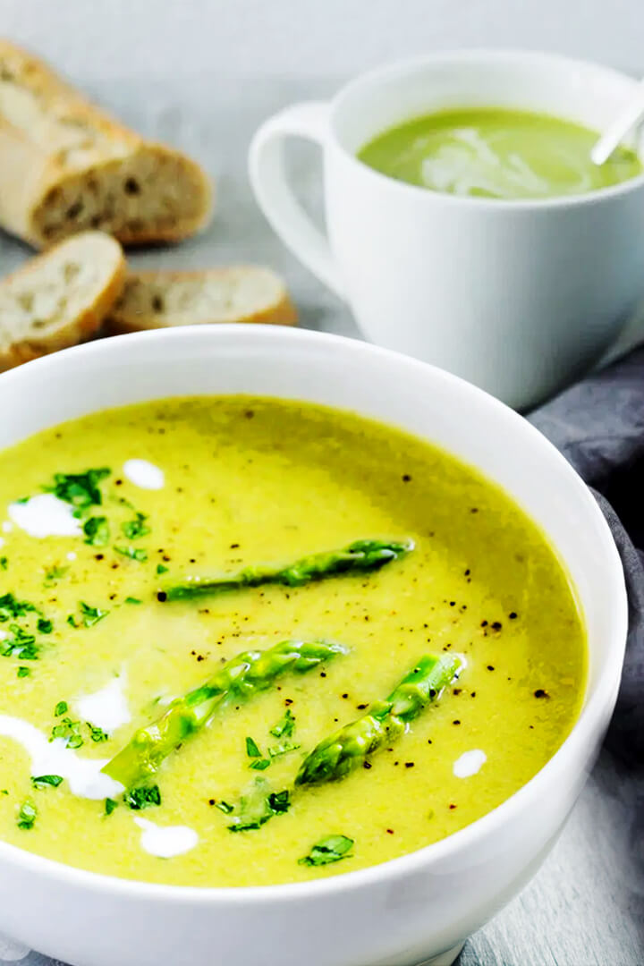 asparagus soup without blending