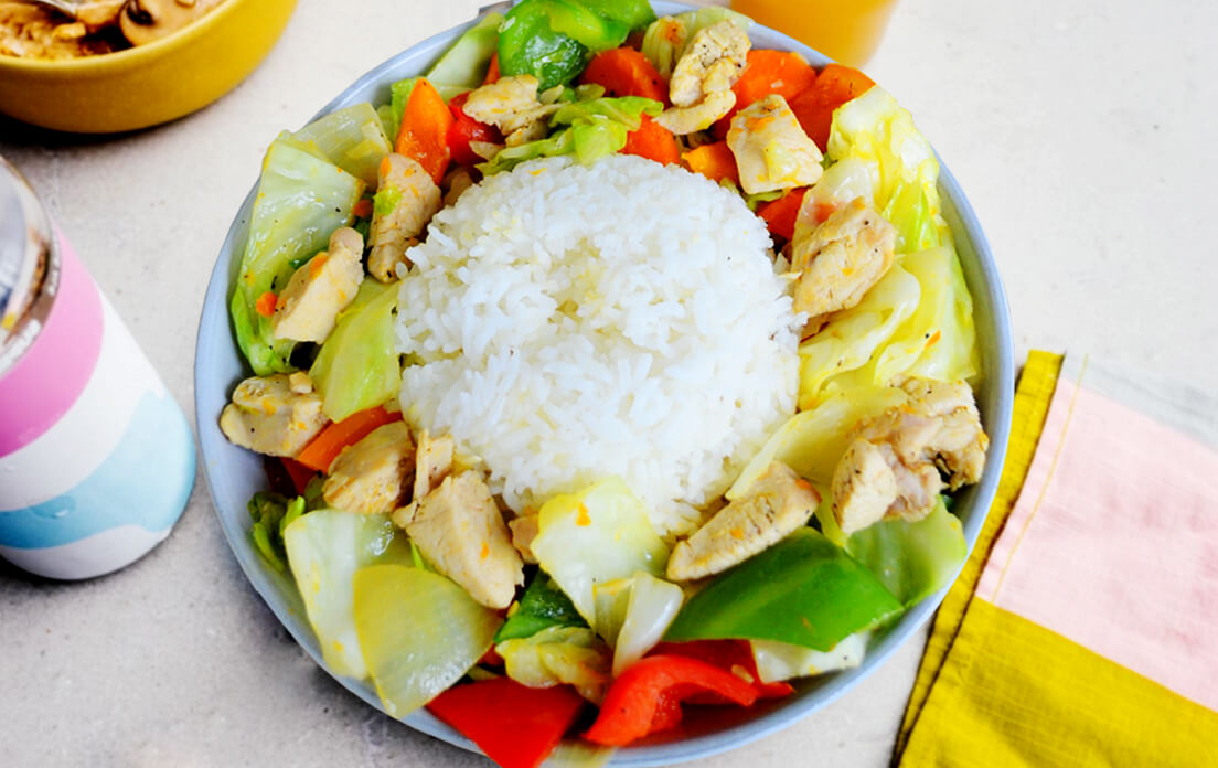 chicken chop suey with rice recipe