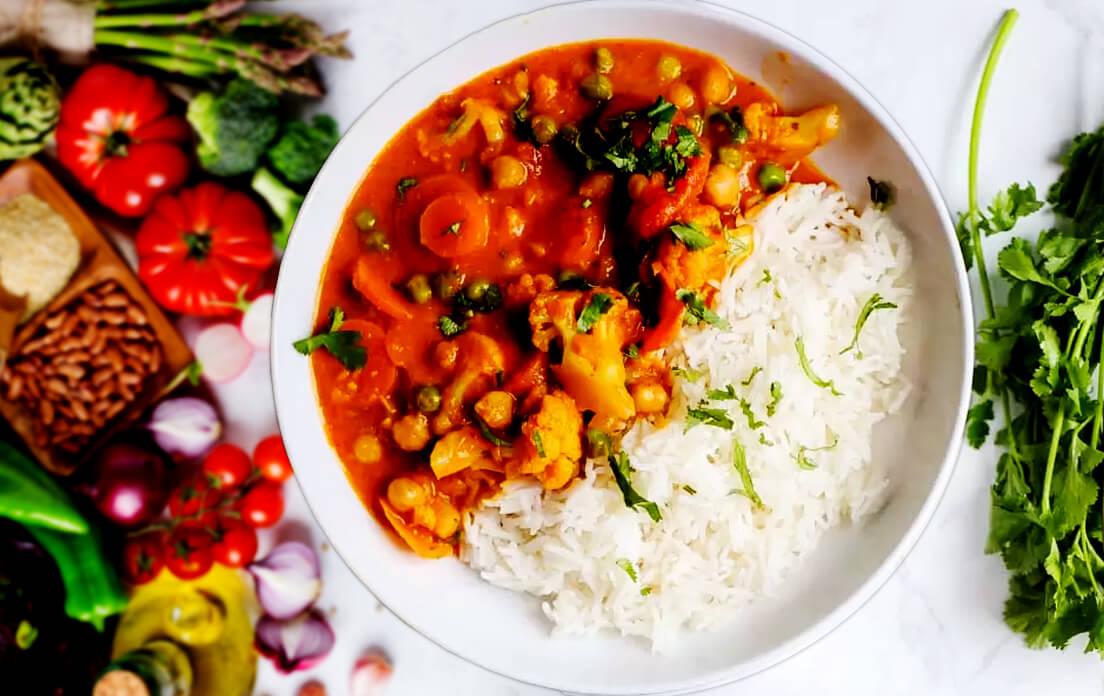 chicken tikka masala recipe with veggies