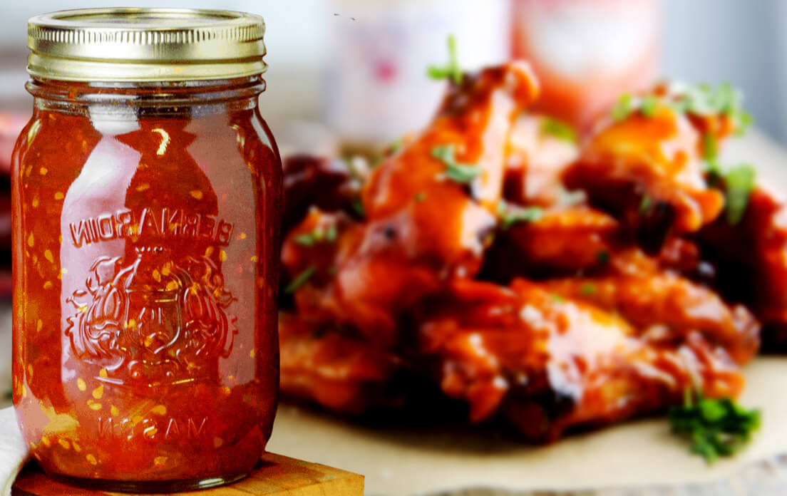 frozen chicken wings with sauce