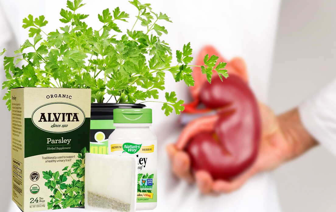 parsley tea benefits kidney