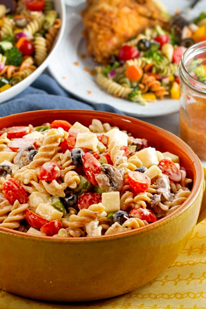 pasta salad with Italian dressing recipe mix