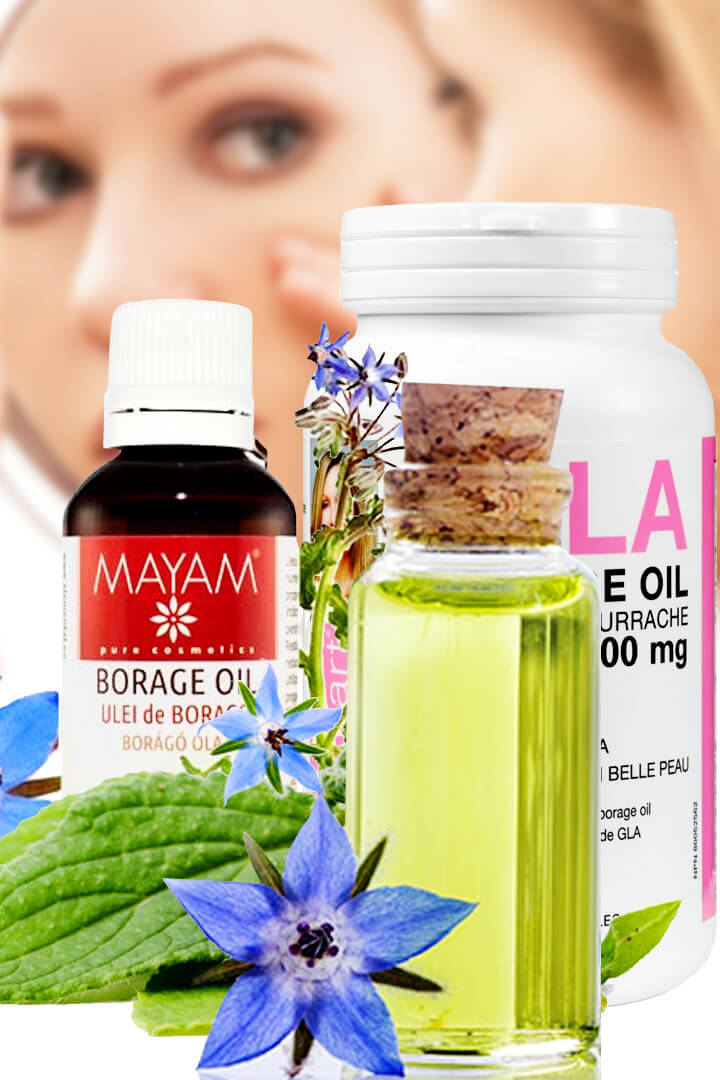 benefits of borage oil for men, for face and thyroid