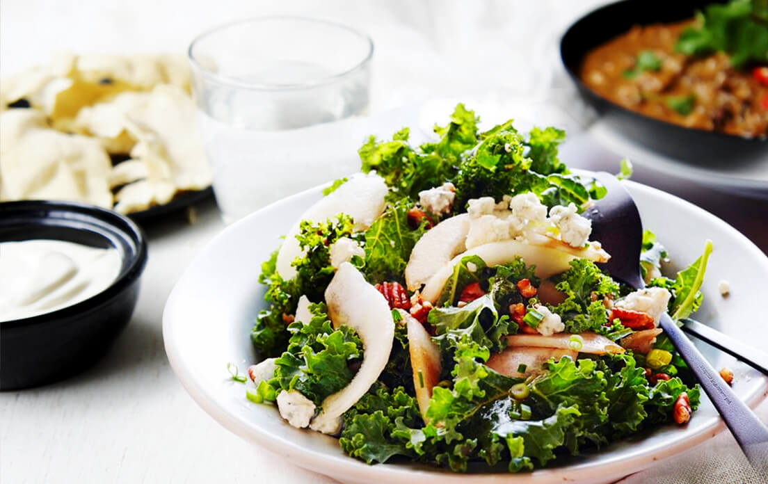 Benefits of Eating Kale Soup, Chips and Kale Salad