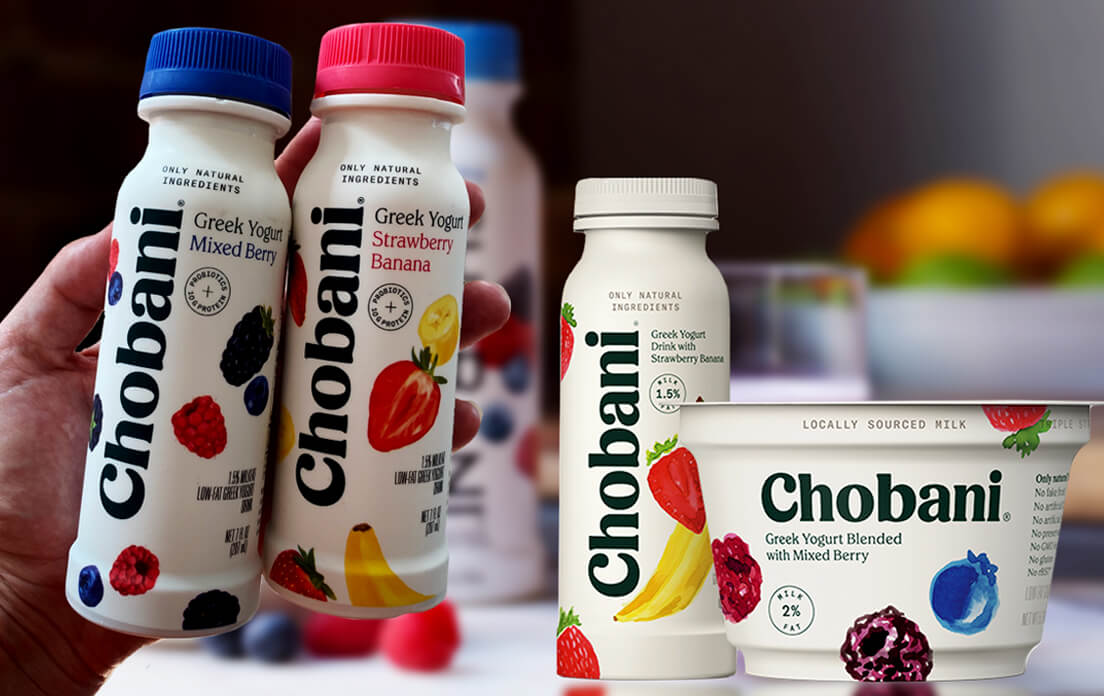 Chobani Strawberry Banana Drinkable Yogurt