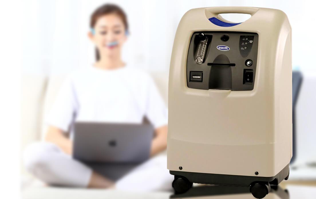 Invacare Perfecto2 V Oxygen Concentrator 5Liter w/ O2 Sensor