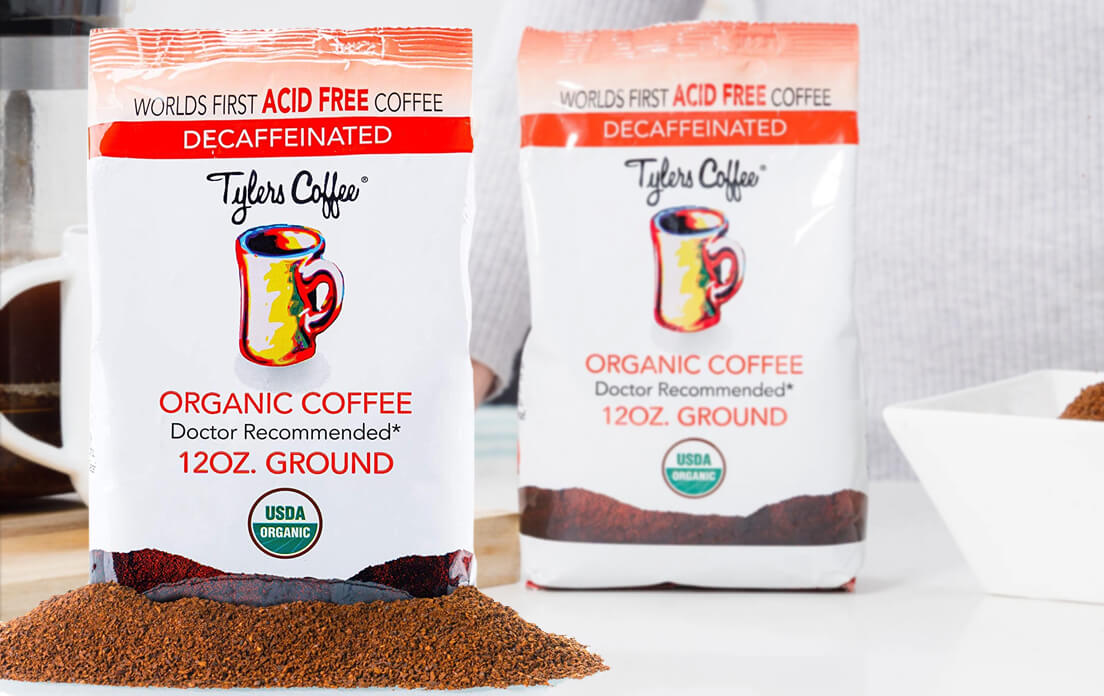 Organic Ground Coffee Without Tyler Acid