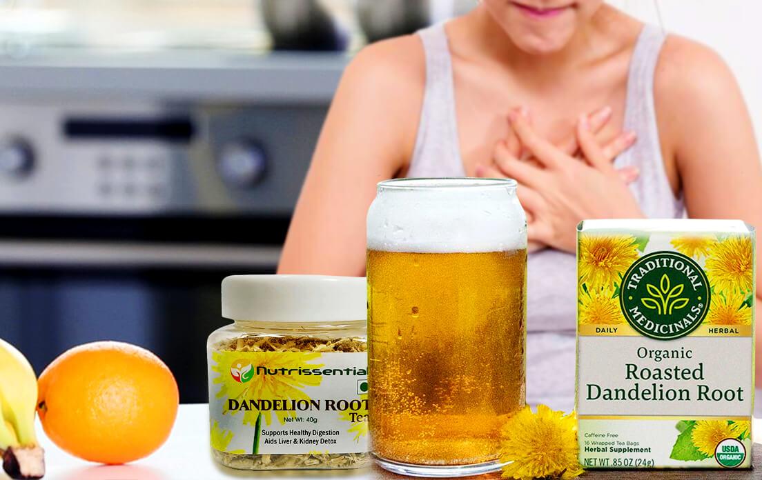dandelion root tea benefits for breast