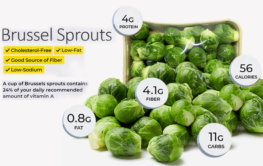 Brussel sprouts health benefits for men, for women and for kidney diet