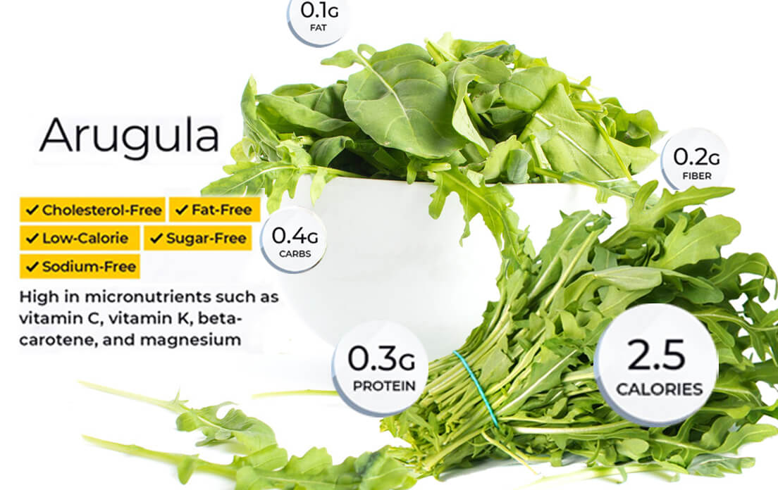 health benefits of arugula for men, for women, and side effect