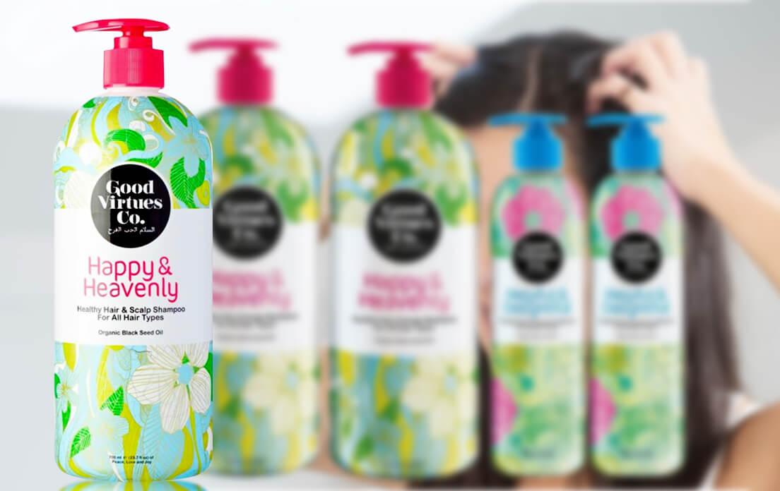 Good Virtues Co. Happy &Heavenly Healthy Hair &Scalp Shampoo