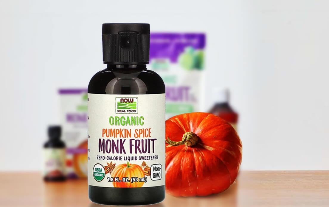 Organic Monk Fruit Zero-Calorie Liquid Sweetener Pumpkin Spice