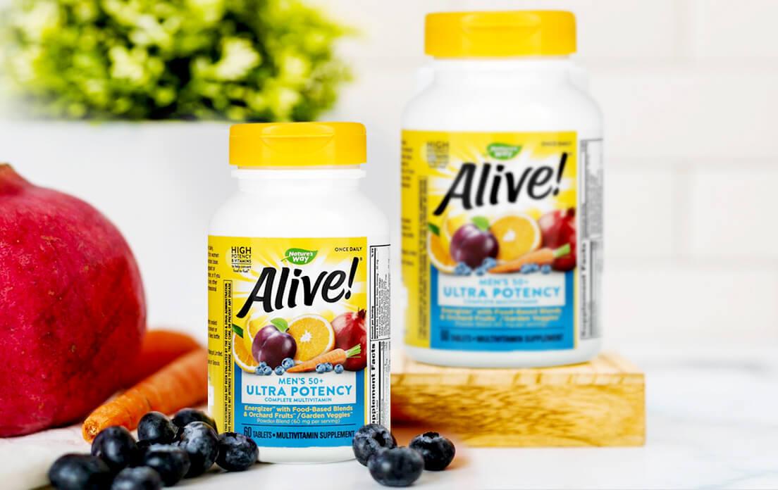 Nature's Way- Alive! Men's 50+ Ultra Potency Complete Multivitamin