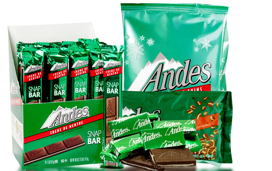are andes mints gluten free