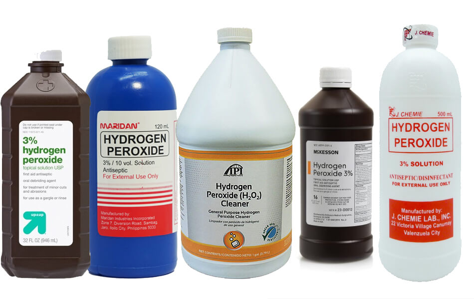 cleaning ears with hydrogen peroxide